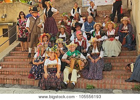 Singers And Musicians Of Abruzzo, Italy