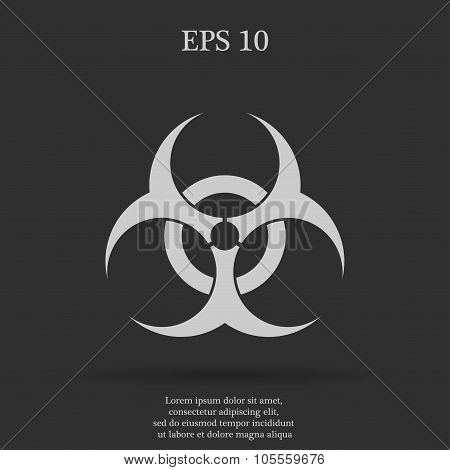 Bio hazard icon - vector web illustration easy paste to any background. poster