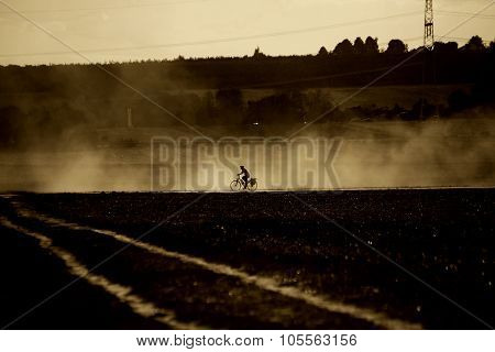 Bicycle in the dust