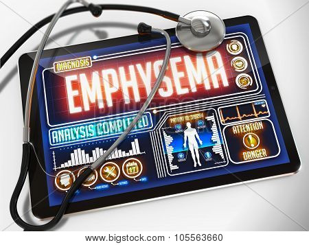 Emphysema on the Display of Medical Tablet.
