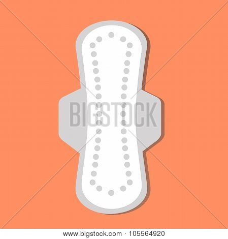 sanitary towel. woman hygiene protection, sanitary napkin, woman hygiene protection. Vector