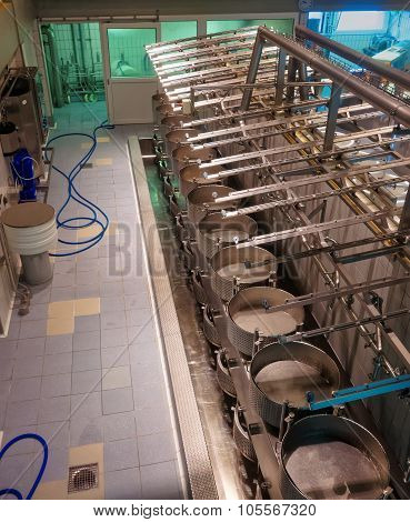 Interior View Of A Cheese Diary In Gruyere