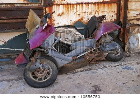 Wrecked Scooter