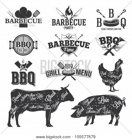 Bbq Emblems And Logo