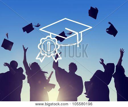 Academic Graduation Hat Successful Education Concept