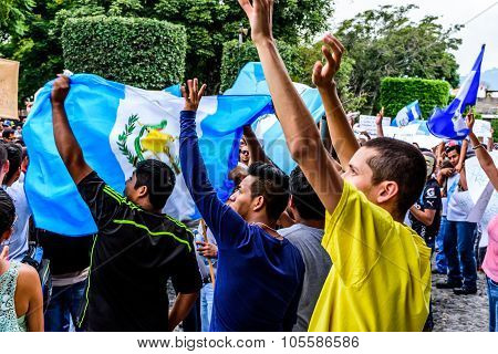 Political Protests, Antigua, Guatemala