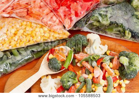Bunch Of Mixed Frozen Vegetables
