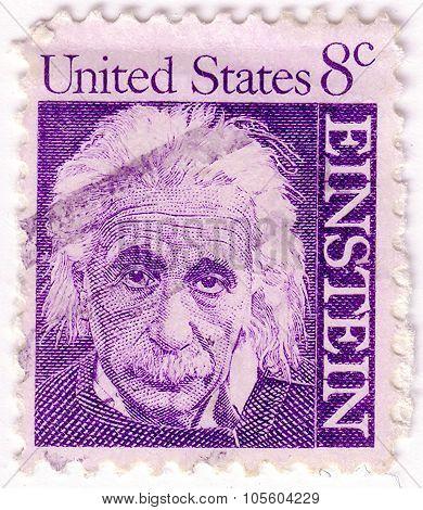 United States Of America - Circa 1965: A Stamp Printed In The United States Of America Shows Albert