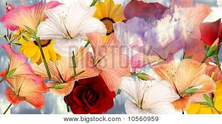 Floral Layout Template