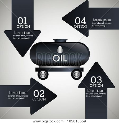 Oil prices infographic design