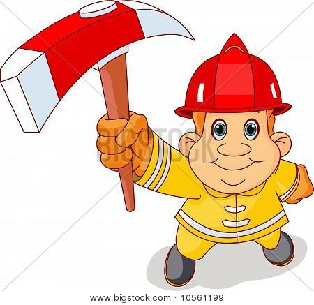 Firemen With The Ax