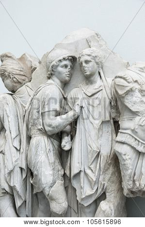 Detail Of The Frieze Of Pergamon Altar In The Pergamon Museum, Berlin