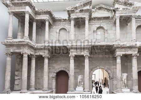 Market Gate Of Miletus Hall Of Pergamon Museum In Berlin