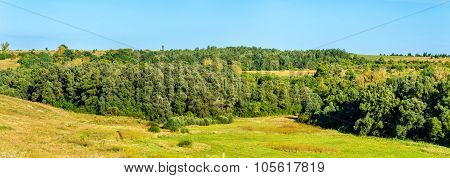 Landscape Of The Central Russian Upland, Europe