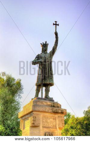 Stefan Cel Mare Monument In Chisinau - Moldova