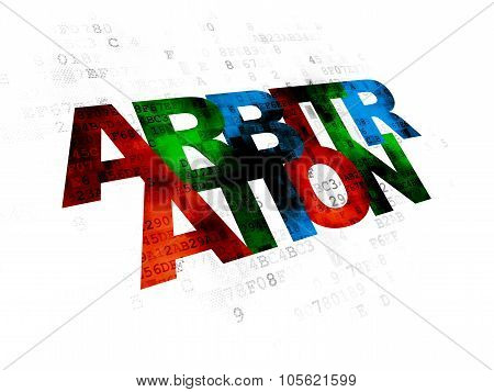 Law concept: Arbitration on Digital background