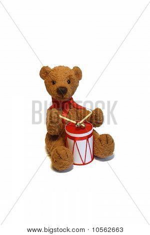 A Teddy-bear Drummer