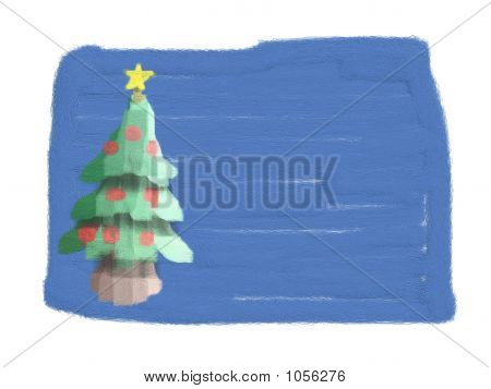 Christmas Card (Drawn By Child)