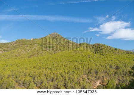 mountain landscape near Nerja, Spain.