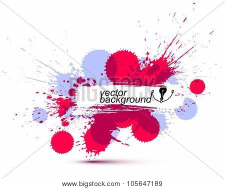 Colored Modern Vector Acrylic Wallpaper, Eps8 Blob Seamless Pattern Painted With Ink Brush, Muddled