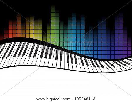 black piano template