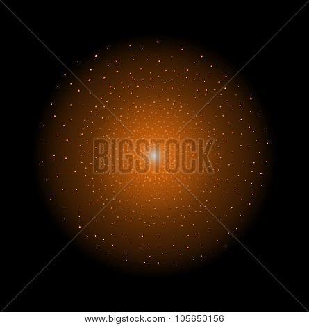 Star shining. Orange