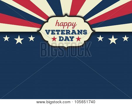 Happy veterans day horizon background.