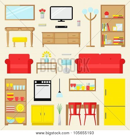 Big apartment furniture set.