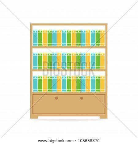 Bookcase. Big bookcase.
