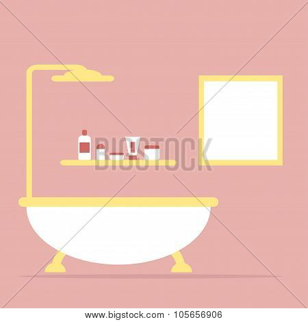 Bathroom. Bathroom interior. Isolated furniture.