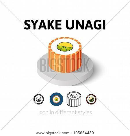 Syake unagi icon in different style