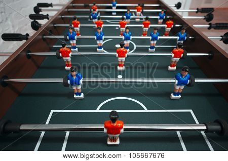 Closeup Photo Of Toy Football, Kicker