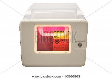 Biohazard Sharps Disposal Box