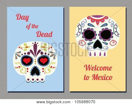 Mexican Skull Cards