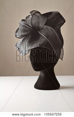 Black Ladies Dress Accessory Hat
