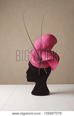 Pink And Black Ladies Races Hat Spring Carnival