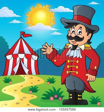 Circus ringmaster theme image 3 - eps10 vector illustration.