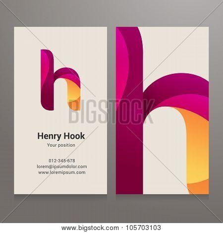 Modern Letter H Business Card Template