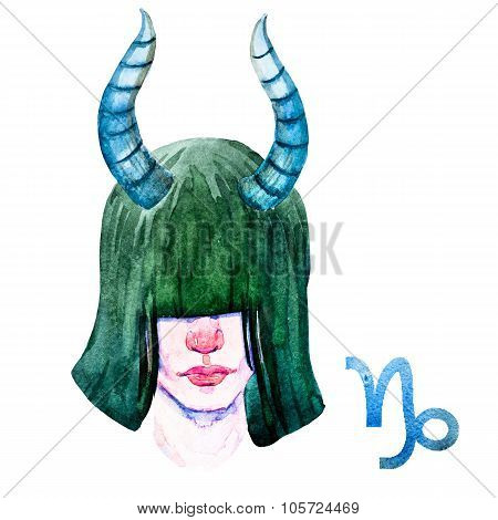 Capricorn horoscope raster