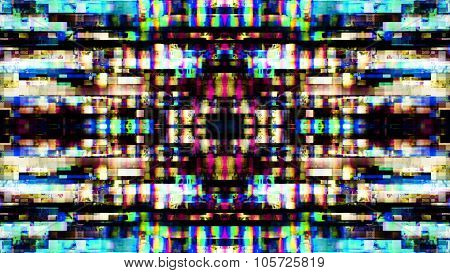 Futuristic Screen Display Pixels