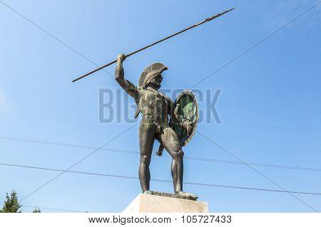 Statue Of Leonidas King Of Sparta