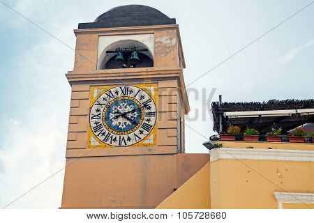 Clocktower On Piazza Umberto I, Capri, Italy