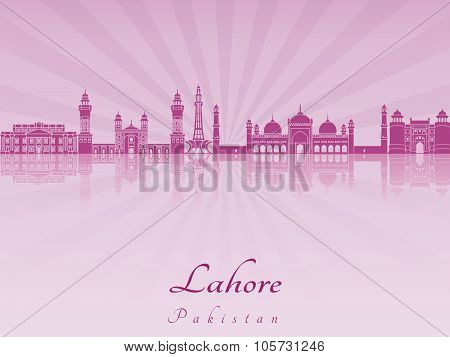 Lahore Skyline In Purple Radiant Orchid