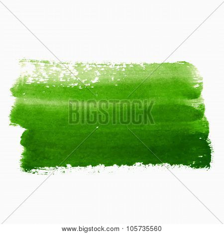 Green Paint Abstract Background
