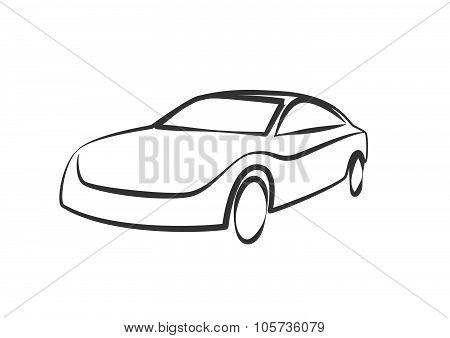 Sports Car Outlines. Modern Car Illustration. Car Vector Image