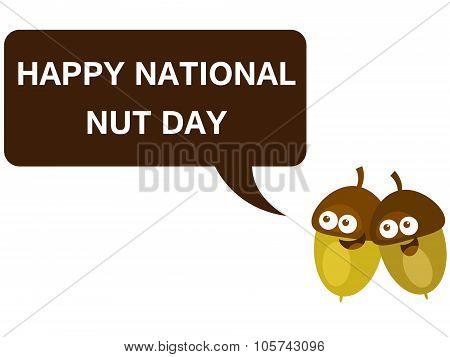 Happy national nut day cartoon version 5