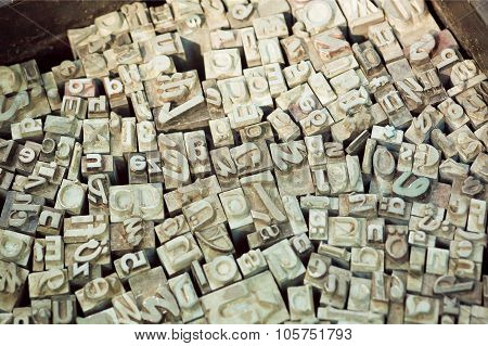 Alphabet Letters Sets Of Classical Typewriter