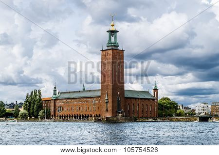 The Tower Of The Stockholm City Hall In Stockholm.
