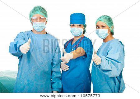 Successful Team Of Surgeons