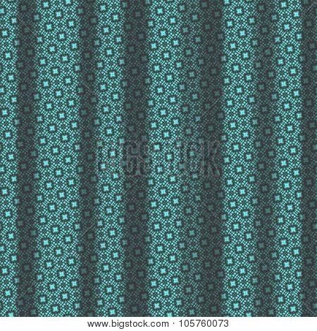 Turquoise Pattern Drapery Seamless Background Texture.